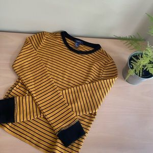 3 for $25 Forever 21 Black and Yellow Thermal Top